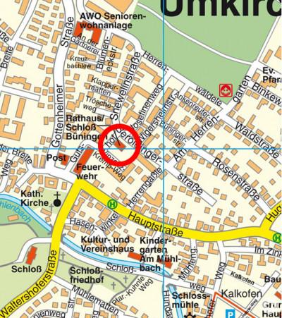 Hier finden Sie die GWU: Rathaus Umkirch, Schloss Büningen